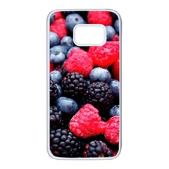 Berries 2 Samsung Galaxy S7 White Seamless Case by trendistuff