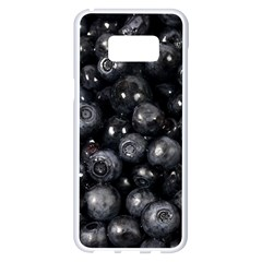 Blueberries 1 Samsung Galaxy S8 Plus White Seamless Case by trendistuff