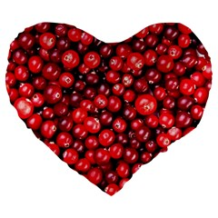 Cranberries 2 Large 19  Premium Heart Shape Cushions by trendistuff