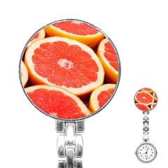 Grapefruit 1 Stainless Steel Nurses Watch by trendistuff