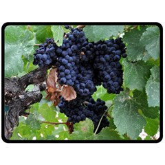 Grapes 3 Fleece Blanket (large)  by trendistuff