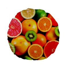 Mixed Fruit 1 Standard 15  Premium Flano Round Cushions by trendistuff