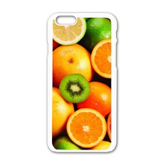 Mixed Fruit 1 Apple Iphone 6/6s White Enamel Case by trendistuff