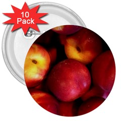 Nectarines 3  Buttons (10 Pack)