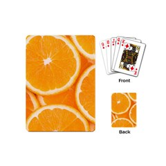 Oranges 4 Playing Cards (mini)  by trendistuff