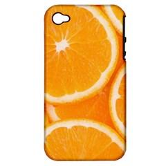 Oranges 4 Apple Iphone 4/4s Hardshell Case (pc+silicone) by trendistuff