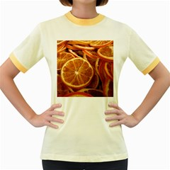 Oranges 5 Women s Fitted Ringer T Shirts