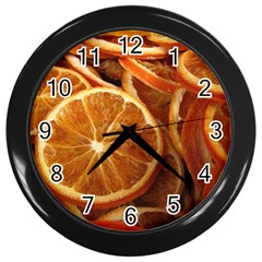 Oranges 5 Wall Clocks (black) by trendistuff