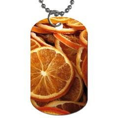 Oranges 5 Dog Tag (one Side) by trendistuff