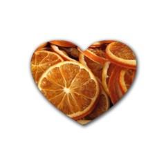 Oranges 5 Heart Coaster (4 Pack)  by trendistuff