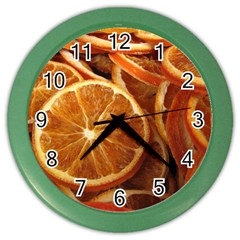 Oranges 5 Color Wall Clocks by trendistuff