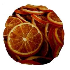 Oranges 5 Large 18  Premium Flano Round Cushions by trendistuff