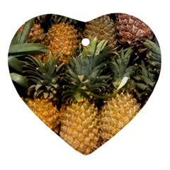 Pineapple 1 Ornament (heart) by trendistuff