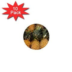 Pineapple 1 1  Mini Buttons (10 Pack)  by trendistuff