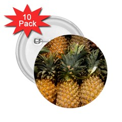 Pineapple 1 2 25  Buttons (10 Pack)  by trendistuff