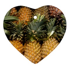 Pineapple 1 Heart Ornament (two Sides) by trendistuff