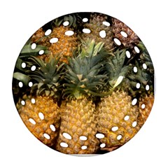 Pineapple 1 Round Filigree Ornament (two Sides) by trendistuff