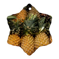 Pineapple 1 Snowflake Ornament (two Sides) by trendistuff