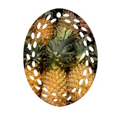 Pineapple 1 Ornament (oval Filigree) by trendistuff
