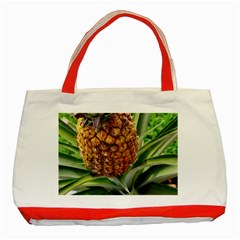 Pineapple 2 Classic Tote Bag (red) by trendistuff