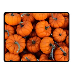 Pumpkins 2 Double Sided Fleece Blanket (small)  by trendistuff