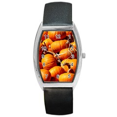 Pumpkins 3 Barrel Style Metal Watch by trendistuff