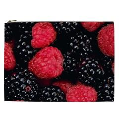 Raspberries 1 Cosmetic Bag (xxl)  by trendistuff