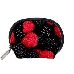 Raspberries 1 Accessory Pouches (small)  by trendistuff