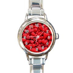 Raspberries 2 Round Italian Charm Watch by trendistuff