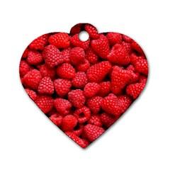 Raspberries 2 Dog Tag Heart (one Side) by trendistuff
