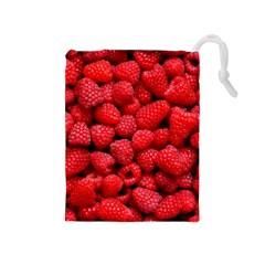Raspberries 2 Drawstring Pouches (medium)  by trendistuff
