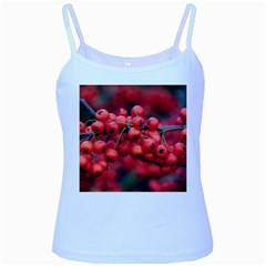 Red Berries 1 Baby Blue Spaghetti Tank by trendistuff