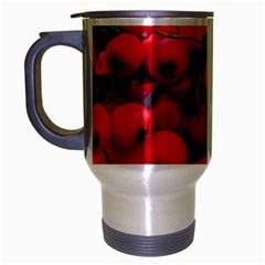 Red Berries 1 Travel Mug (silver Gray) by trendistuff