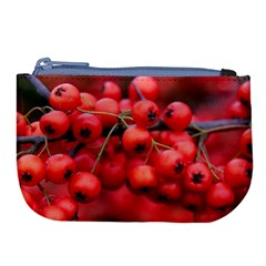 Red Berries 1 Large Coin Purse by trendistuff