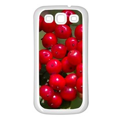Red Berries 2 Samsung Galaxy S3 Back Case (white) by trendistuff