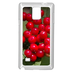 Red Berries 2 Samsung Galaxy Note 4 Case (white) by trendistuff