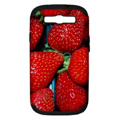 Strawberries 3 Samsung Galaxy S Iii Hardshell Case (pc+silicone)
