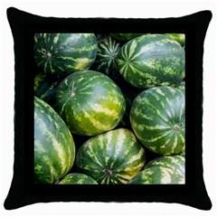 Watermelon 2 Throw Pillow Case (black) by trendistuff