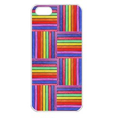 Artwork By Patrick Squares Apple Iphone 5 Seamless Case (white)
