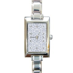 Radial Mandala Ornate Pattern Rectangle Italian Charm Watch by dflcprints