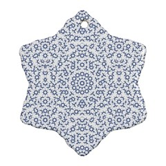 Radial Mandala Ornate Pattern Ornament (snowflake) by dflcprints