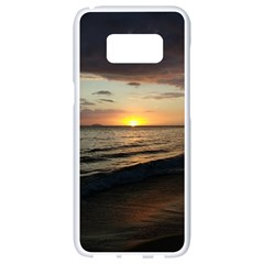 Sunset On Rincon Puerto Rico Samsung Galaxy S8 White Seamless Case by sherylchapmanphotography