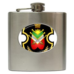 Shield Of The Imperial Iranian Ground Force Hip Flask (6 Oz) by abbeyz71