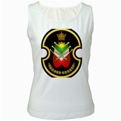Shield Of The Imperial Iranian Ground Force Women s White Tank Top