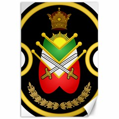Shield Of The Imperial Iranian Ground Force Canvas 24  X 36  by abbeyz71