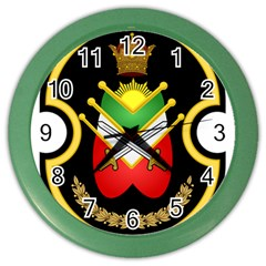 Shield Of The Imperial Iranian Ground Force Color Wall Clocks by abbeyz71