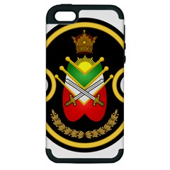 Shield Of The Imperial Iranian Ground Force Apple Iphone 5 Hardshell Case (pc+silicone) by abbeyz71