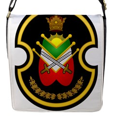 Shield Of The Imperial Iranian Ground Force Flap Messenger Bag (s) by abbeyz71