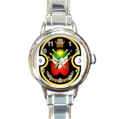 Shield Of The Imperial Iranian Ground Force Round Italian Charm Watch by abbeyz71