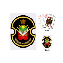 Shield Of The Imperial Iranian Ground Force Playing Cards (mini)  by abbeyz71